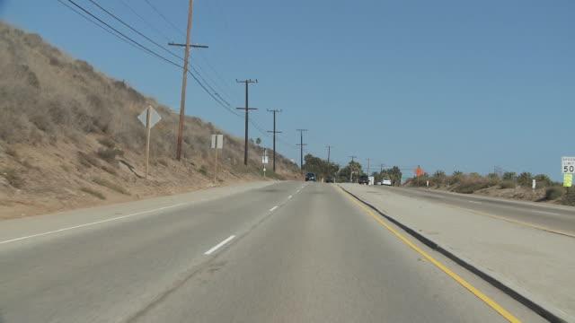 WS POV Northbound on Pacific coast highway / Santa Monica, California, USA