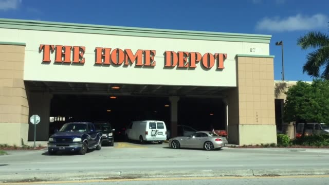 northeast 4th ave fort lauderdale fl home depot is out of generators propane and water they are running low on batteries and plywood customer... - broadsheet stock videos and b-roll footage
