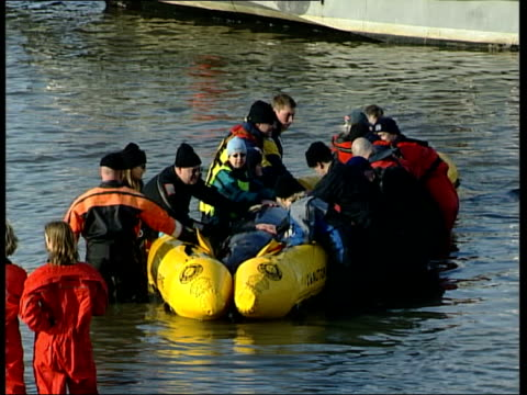 Northern BottleNosed whale found swimming in River Thames Battersea Bridge MSs Rescuers including members of the British Divers Marine Life Rescue...