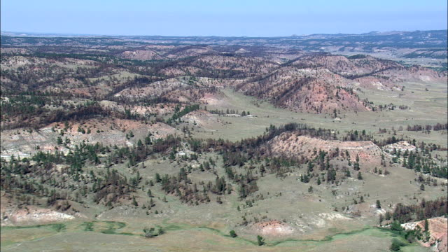 Northern Cheyenne Indian Reservation  - Aerial View - Montana, Big Horn County, United States