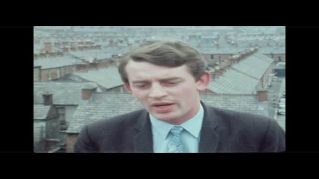 an assessment of the problem; northern ireland: belfast: springfield road: ext jeep pulling coffin of sergeant michael willetts on carriage along l-r... - avenue stock videos & royalty-free footage