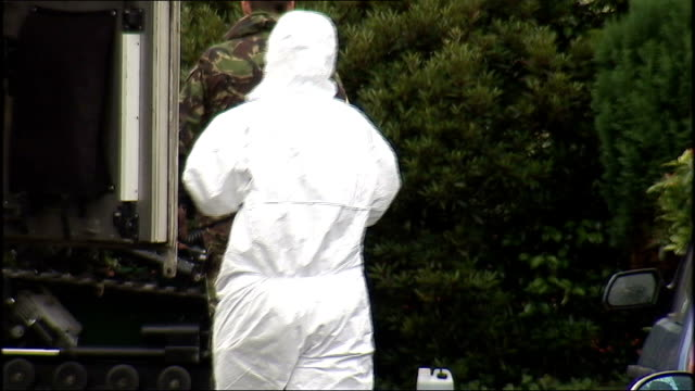 army major was car bomb target northern ireland county down bangor ext police at scene of attempted car bomb attack on an army major's car police... - disposal stock videos and b-roll footage