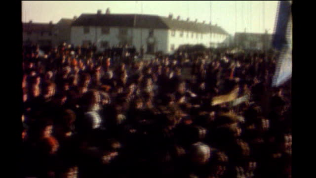 bloody sunday killings saville report exonerates bloody sunday victims tx 3011972 ireland londonderry massed civil rights association march along... - saville report stock videos & royalty-free footage