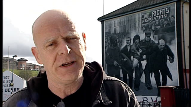 bloody sunday killings saville report to be published on tuesday 14th june 2010 eamonn mccann interview sot i'll look for the word 'massacre' i'll... - saville report stock videos & royalty-free footage