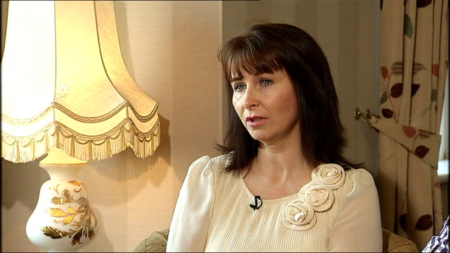 constable ronan kerr murder: mother interview; northern ireland: int nuala kerr interview sot - even to this day still in disbelief, really harrowing... - リチャード・パロット点の映像素材/bロール