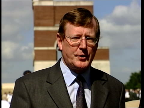 stockvideo's en b-roll-footage met david trimble resignation david trimble mla interviewed sot because i can no longer have any confidence in the unfulfilled promises made by... - david trimble