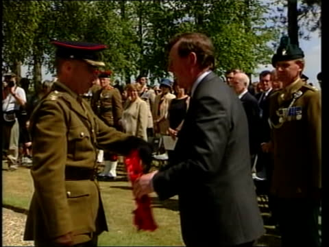 David Trimble resignation ITN FRANCE Somme David Trimble MLA along to lay wreath during service to commemorate the Battle of the Somme