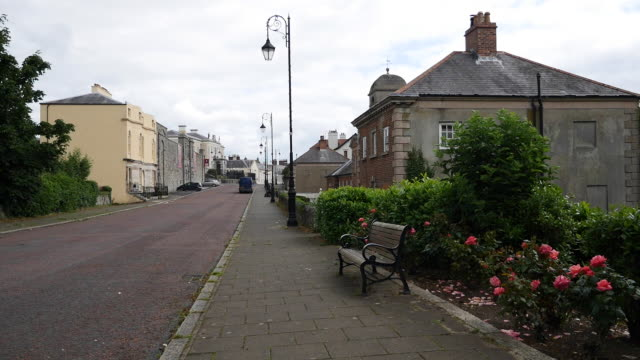 northern ireland downpatrick street view - ulster county stock videos & royalty-free footage