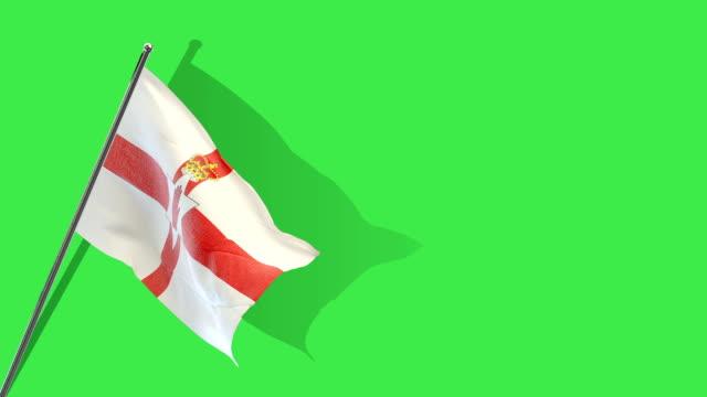 northern ireland flag Rising