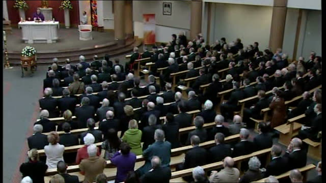 Funeral of murdered police officer Crowded church for funeral service Canon Liam Stevenson reading lesson SOT Our prayer that Stephen's killing will...
