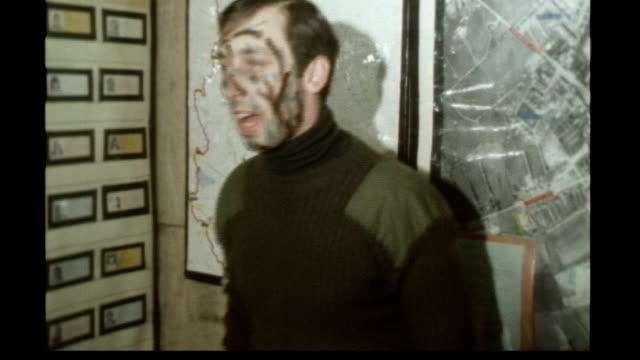 Last British armed forces pull out TX South Armagh Crossmaglen INT Colour archive footage of British troops in briefing before patrolling streets in...