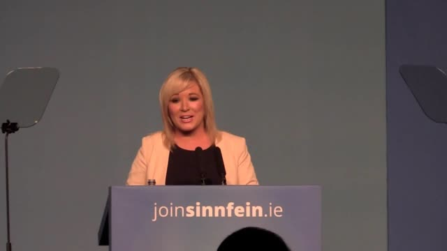 northern ireland leader michelle o'neill speaking in dublin says that crisis talks aimed at restoring the powersharing government at stormont are... - stormont stock videos and b-roll footage