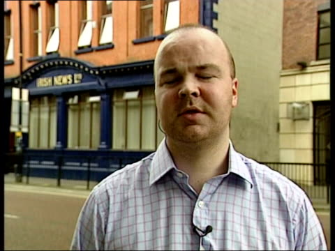 vídeos de stock, filmes e b-roll de lennon quits after death threats itn ireland belfast kenny archer interview sot sad to lose quality player/ sectarian element is so damaging to our... - sammy mcilroy