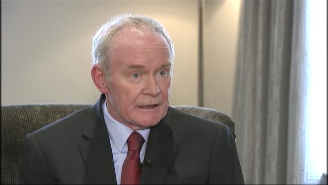 martin mcguiness to retire from frontline politics due to ill health northern martin mcguinness interview sot i have to be very honest with myself... - martin mcguinness stock videos and b-roll footage