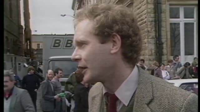 martin mcguiness to retire from frontline politics due to ill health file date unknown ext various shots irish republican army militants clashing... - militant groups stock videos & royalty-free footage