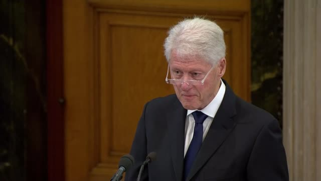 martin mcguinness funeral st columba's church int bill clinton funeral address at martin mcguinness funeral service sot special work of appreciation... - gerry adams stock videos and b-roll footage