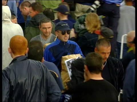 maze prison: last paramilitary prisoners released; f)en: john irvine - events itn northern ireland: lisburn: hmp maze prison: ext bernard mcginn out... - murder victim stock videos & royalty-free footage
