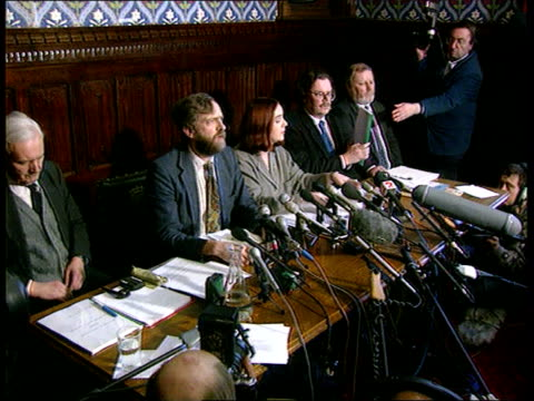 sinn fein press conference on government talks england london westminster sinn fein national chrmn tom hartley holding up document at pkf 'setting... - sinn fein stock videos & royalty-free footage