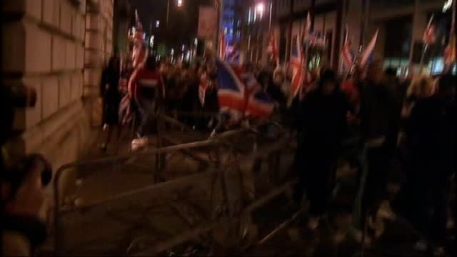 police say there was no warning about belfast city hall violence 4122012 republicans with union jack flags clashing with police outside city hall as... - dismantling stock videos and b-roll footage