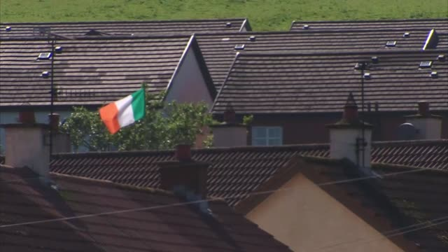 profile of creggan estate where lyra mckee was murdered uk derry paddy gallagher interview various shots of creggan estate children playing sport vox... - variation stock videos & royalty-free footage