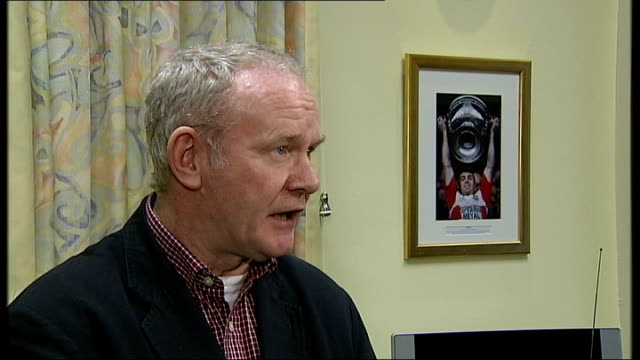 Real IRA claims responsibility for killing British soldiers INT Deputy First Minister Martin McGuinness interview SOT if I were to anything but call...
