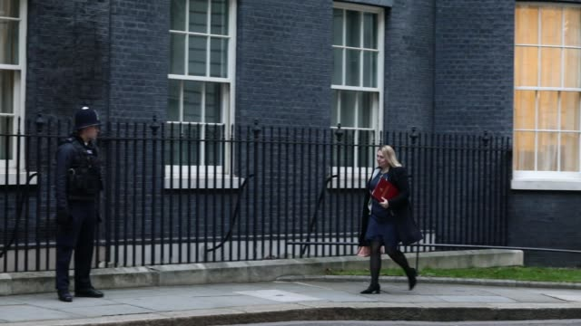 Northern Ireland Secretary Karen Bradley arrives as government ministers attend the first Cabinet meeting of the year at 10 Downing Street on January...
