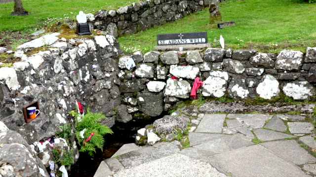 northern ireland st. aidans holy well and offerings - tradition stock videos & royalty-free footage
