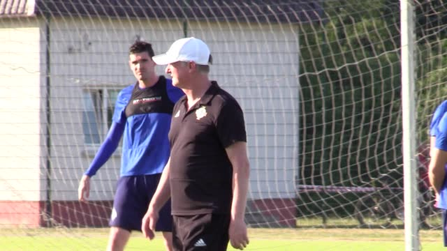 northern ireland train at the abff training centre in minsk belarus ahead of their euro 2020 qualifying match on tuesday june 11 - belarus stock videos & royalty-free footage