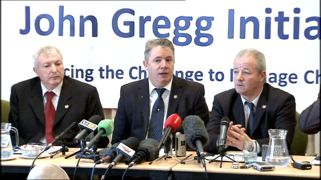 ulster defence association announces decommissioning of weapons press conference gallagher press conference sot this is for uprg we decided this is... - low unemployment stock videos & royalty-free footage