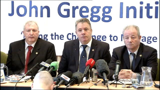 ulster defence association announces decommissioning of weapons press conference gallagher press conference sot q were the witnesses there throughout... - politics and government stock videos & royalty-free footage