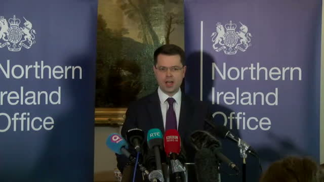 northern ireland will go to the polls in early march despite last minute attempts by the prime minister to prevent the need for an election theresa... - ストーモント点の映像素材/bロール