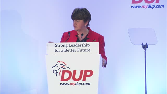 northern ireland's first minister arlene foster has described brexit as the uk's biggest economic opportunity for decades. she was speaking at her... - dup stock-videos und b-roll-filmmaterial