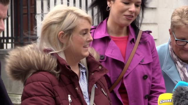 """northern ireland's strict abortion law breaches the uk's human rights commitments, the high court in belfast has ruled. sarah ewart hailed a """"massive... - clinic stock videos & royalty-free footage"""
