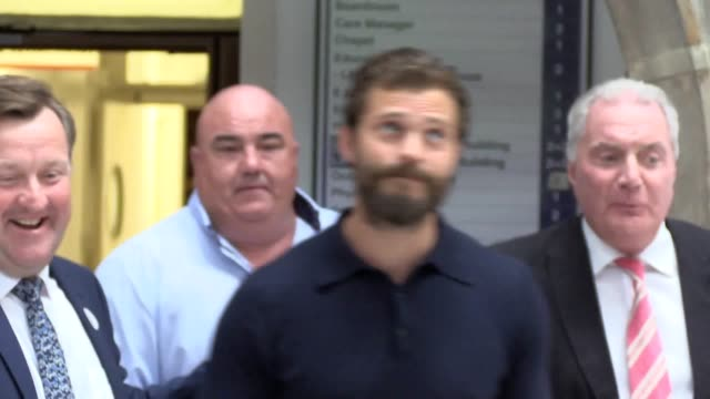 northern irish actor jamie dornan along with his sister jessica dornan lynas and father dr jim dornan attend the pancreatic cancer charity nipanc... - pancreatic cancer stock videos and b-roll footage