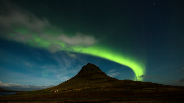Northern Light at Kirkjufell - Iceland