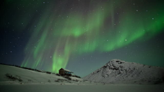 northern light in greenland - man made stock videos & royalty-free footage