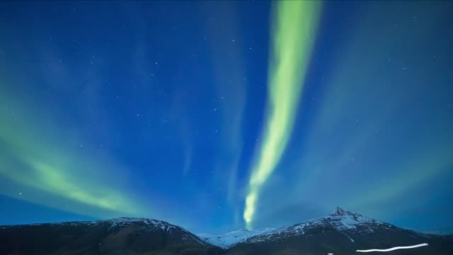 northern light (aurora) or polar light in the night sky iceland - magnetism stock videos & royalty-free footage