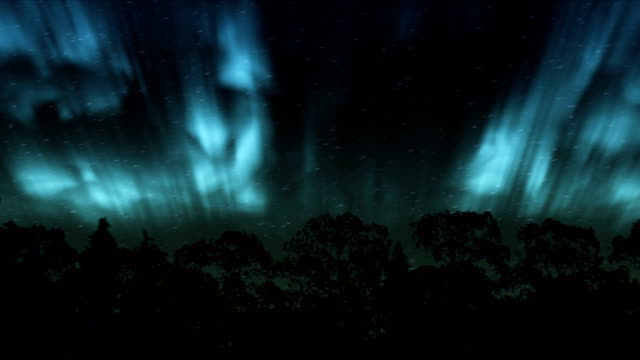 northern lights over the winter forest - time lapse aurora borealis (northern lights) - magnetism stock videos & royalty-free footage