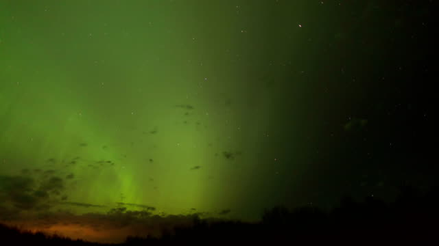 northern lights, timelapse - stratocumulus stock videos and b-roll footage