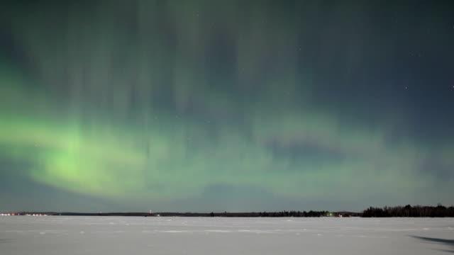 Northern lights, timelapse