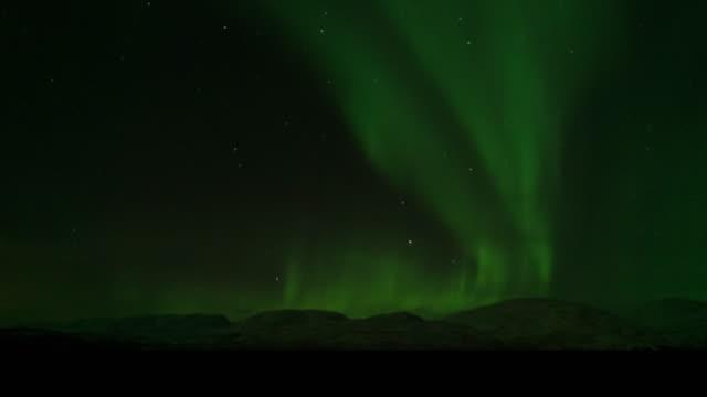 northern light,time lapse. - aurora polaris stock videos & royalty-free footage