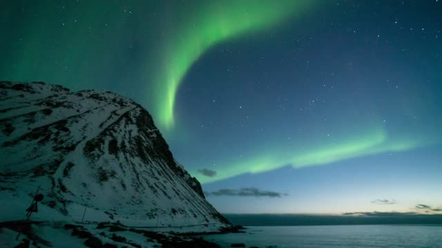 northern light,time lapse. - norway stock videos & royalty-free footage