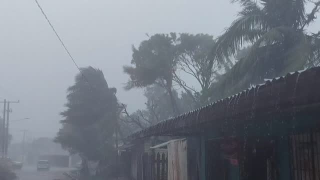 northern nicaragua sees strong winds and rain as category 5 hurricane iota prepares to make landfall on the caribbean coast - managua stock videos & royalty-free footage