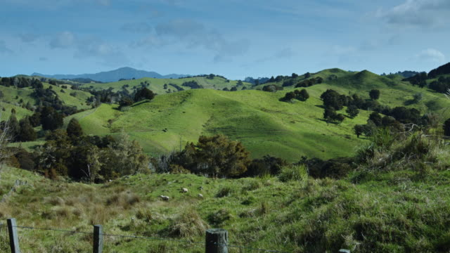 northland farm in early spring - pan - hill stock videos & royalty-free footage
