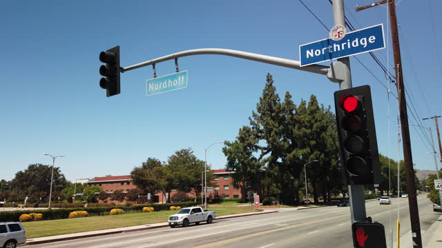northridge city sign, los angeles - northridge stock videos & royalty-free footage