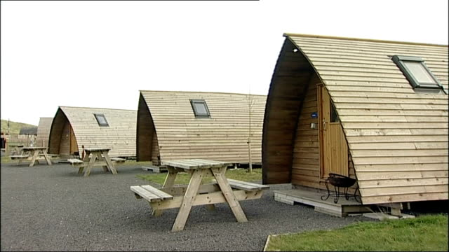 Northumberland given Dark Sky Park status ENGLAND Northumberland EXT General views of cabins at holiday park in Northumberland National Park /...