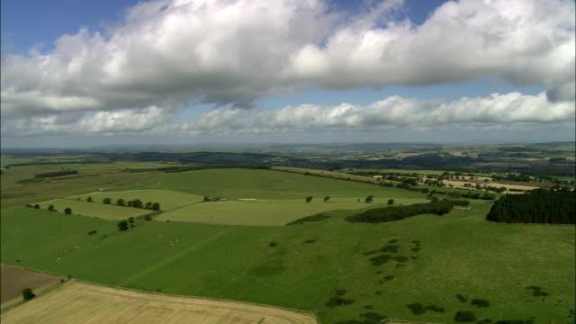 Northumberland Landschaft von der Hadrian's Wall-Luftaufnahme-England, von Northumberland Ein Kamm, Vereinigtes Königreich