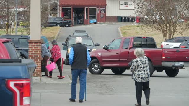 northwest georgians wearing face mask came to vote in the chilly morning for the two senate candidates who will determine whether democrats or... - active seniors stock videos & royalty-free footage
