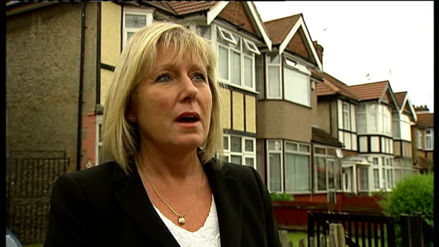 north-west london: harrow: ext susan hall interview sot reporter to camera - harrow stock videos & royalty-free footage