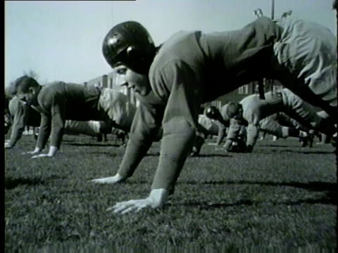 northwestern university football players training in spring 1954 - 1954 stock videos & royalty-free footage